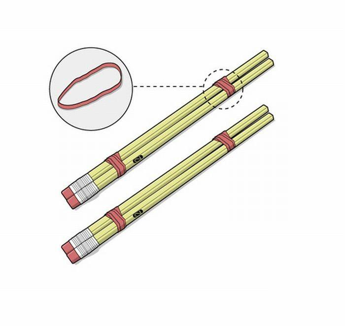 Как сделать из ручки и резинки 929